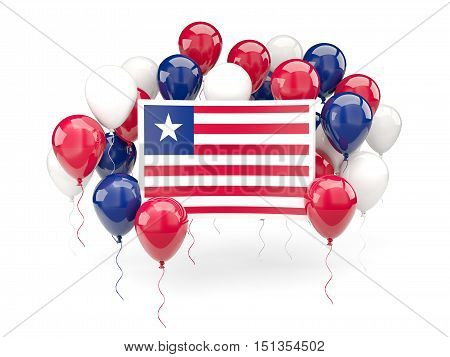 Flag Of Liberia With Balloons