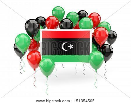 Flag Of Libya With Balloons