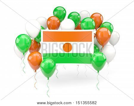 Flag Of Niger With Balloons