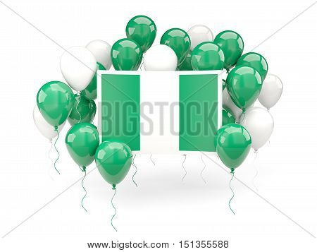 Flag Of Nigeria With Balloons