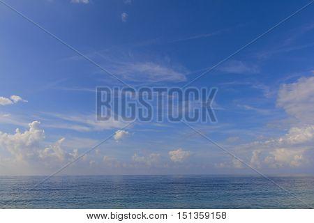 The blue sea and sky background. Adriatic Sea. Montenegro