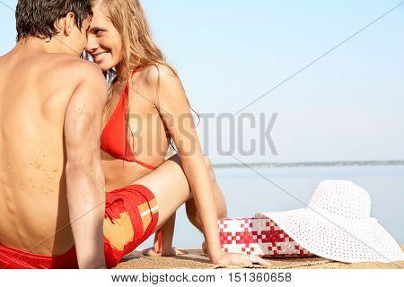 Flirting on beach