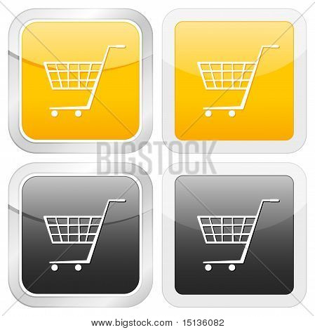 Square Icon Shopping Cart Symbol