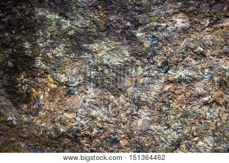 Granite surface with rich and various texture.
