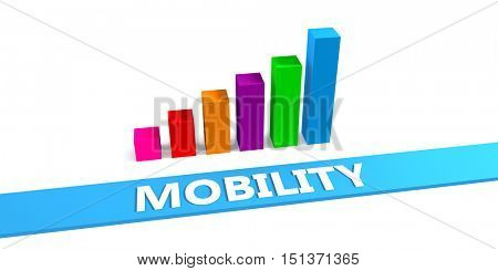 Great Mobility Concept with Good Chart Showing Progress 3D Illustration