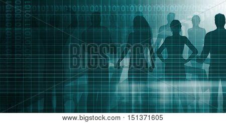 Personnel Management as a Presentation Background Art 3D Render