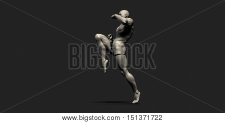 Fitness Tracking or Tracker as a Sports Concept 3d Illustration Render