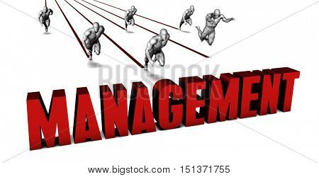 Better Management with a Business Team Racing Concept 3d Illustration Render