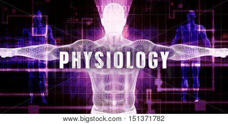 Physiology as a Digital Technology Medical Concept Art