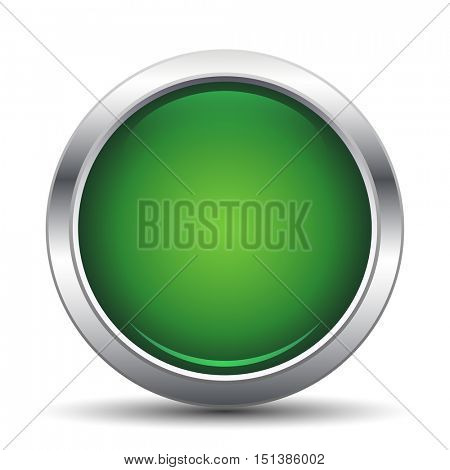 Green  Button. Vector illustration