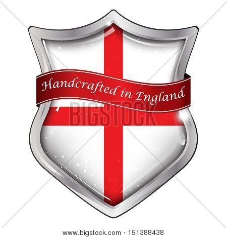 Handcrafted in England - Elegant business shield-shaped