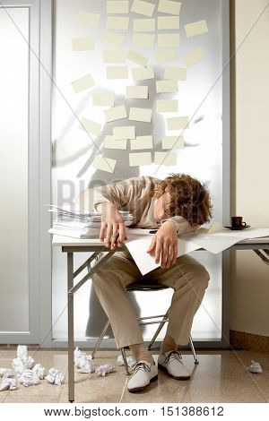 Man overworked