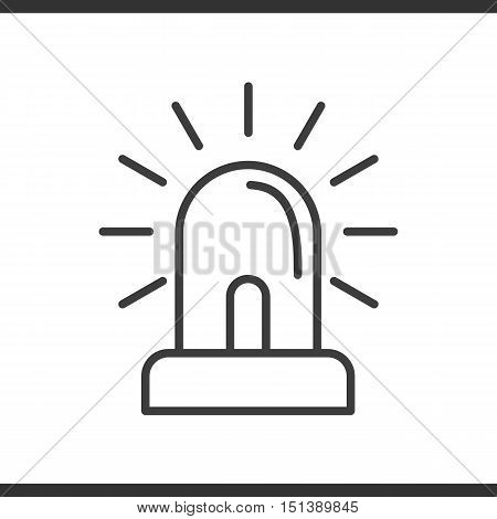 Flasher linear icon. Thin line illustration. Vector isolated outline drawing