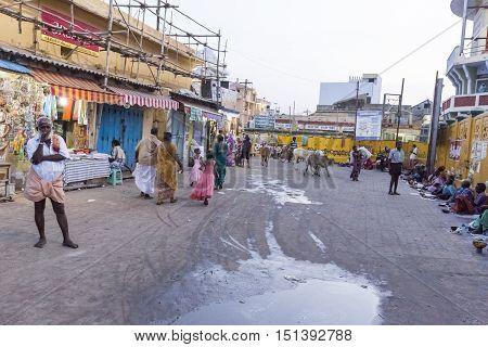 Rameswaram, Tamil Nadu, India - May 25, 2014. Full report about Rameswaram pilgrimage, religion Religious city rituals