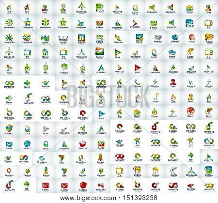 Logo mega collection, business icons
