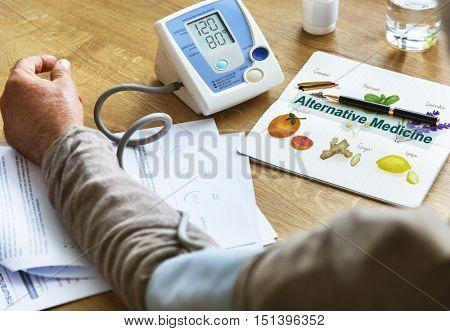 Health Insurance Medicine Checkup Graphic Concept