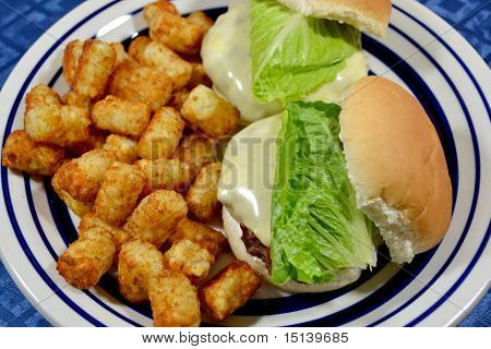 Cheese Burgers and Tator Tots