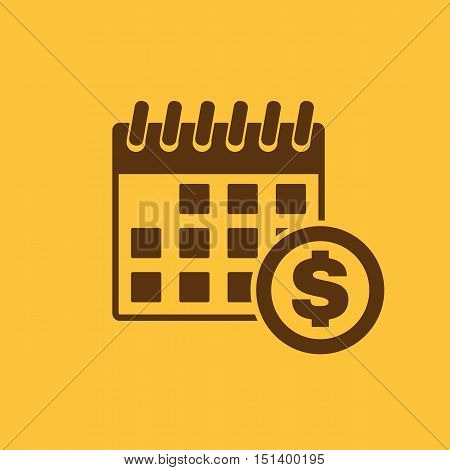 The pay day icon. Tax and payment, dividends symbol. Flat Vector illustration