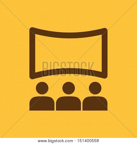 The movie house icon. Theater and show, cinema, presentation  symbol. Flat Vector illustration