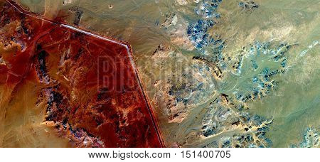 bstract landscapes of deserts, abstract photography deserts of Africa from the air, mirage in Sahara desert,fantasy forms of stone in the desert,