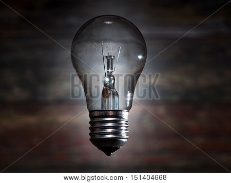 incandescent lamp hanging in the air. energy