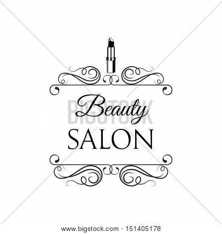 Sample Logo For A Beauty Salon And Cosmetics Product Lipstick Label Cosmetology