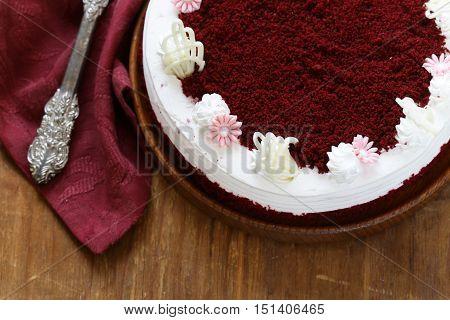 festive dessert Christmas , red velvet cake