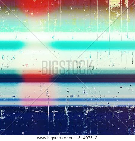 Vintage old retro background with ancient style design elements and different color patterns: blue; red (orange); cyan; white; pink