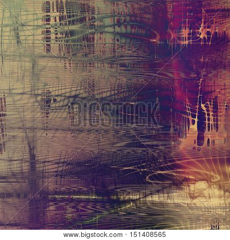 Vintage ancient background or texture with grunge decor elements and different color patterns: yellow (beige); brown; gray; green; red (orange); purple (violet)