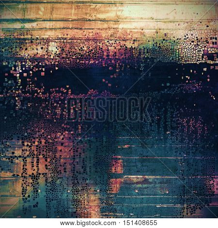 Vintage background - dirty ancient texture. Antique grunge backdrop with different color patterns: yellow (beige); green; blue; purple (violet); cyan; pink