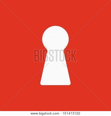 The keyhole icon. Lock symbol. Flat Vector illustration