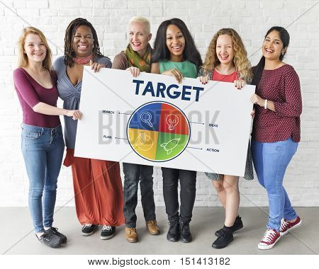 Business Start up Entrepreneur Strategy Target Concept