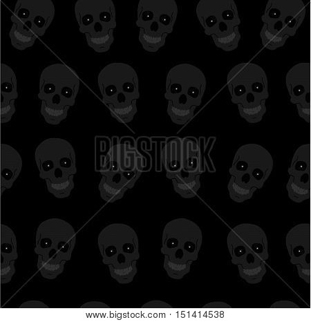 background Halloween scull template greeting or invitation. Halloween vector illustration