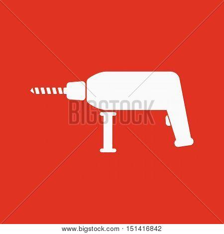 The drill icon. Perforator symbol. Flat Vector illustration