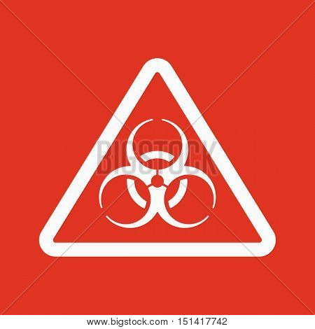 The biohazard icon. Biohazard symbol. Flat Vector illustration