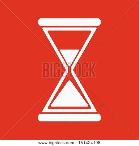 The hourglass icon. Clock symbol. Flat Vector illustration