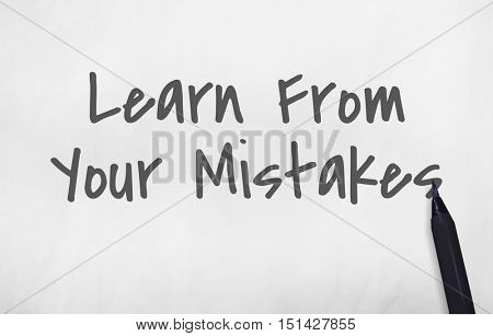 Learn From Your Mistakes Concept