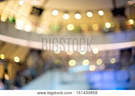 Blur Lighting In Department Hall