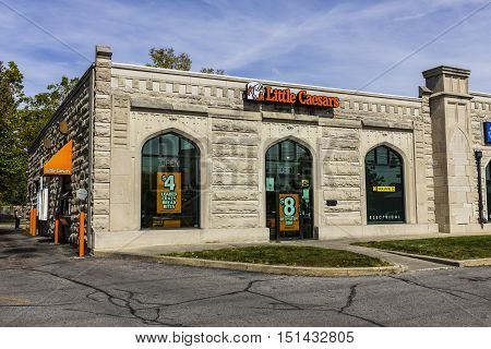 Kokomo - Circa October 2016: Little Caesars Pizza Franchise. Little Caesars is a Carry-Out Chain Featuring Pizza and Wings I