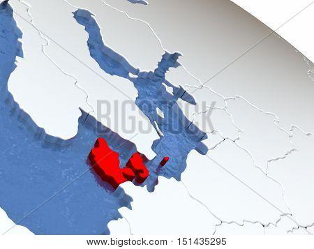 Denmark On Globe