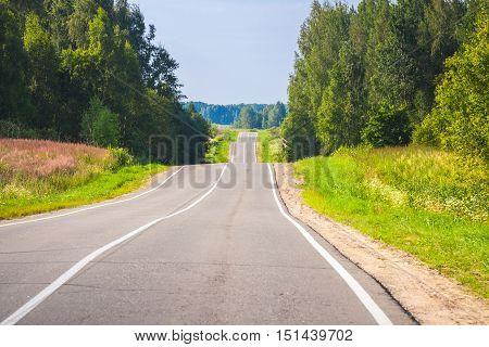 Empty Rural Highway Perspective