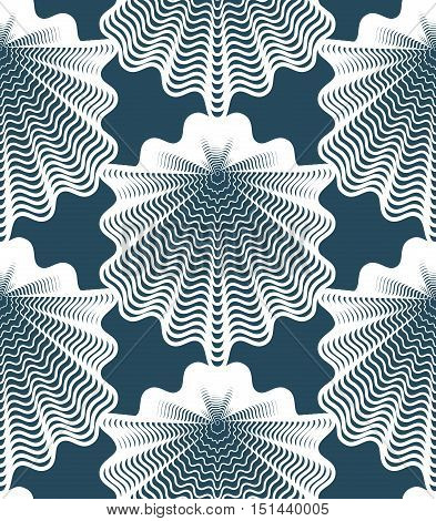 Beautiful abstract seamless pattern with geometric figures. Vector symmetric simple backdrop.