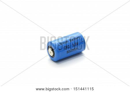 Cr2 Lithium Battery Isolated On White Background