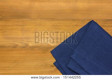 a tablecloth on wooden background or backdrop