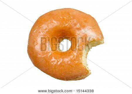 Glazed Donut with Bite Missing