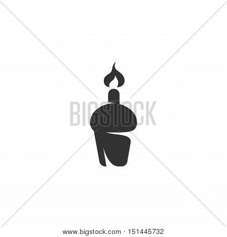 Cake Icon isolated on a white background. Cake Logo design vector template. Simple Logotype concept icon. Symbol, sign, pictogram, illustration - stock vector