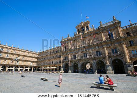 The Plaza Mayor In Salamanca, Spain