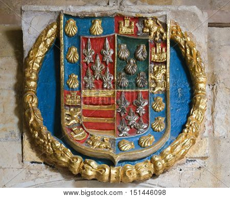 Heraldic Coat Of Arms In The Cathedral Of Salamanca