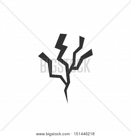 Lightning Icon isolated on a white background. Lightning Logo design vector template. Simple Logotype concept icon. Symbol, sign, pictogram, illustration - stock vector