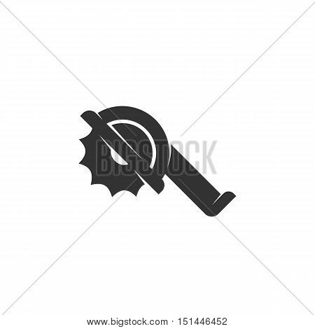 Saw Icon isolated on a white background. Saw Logo design vector template. Simple Logotype concept icon. Symbol, sign, pictogram, illustration - stock vector